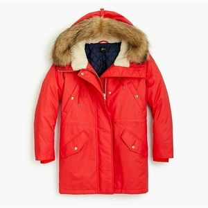 J. Crew  Perfect winter parka with Primaloft